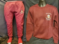 CRIMSON SWEAT SUIT